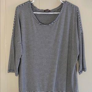 Roz & Ali Dressbarn XL Striped Shirt | Extra Large